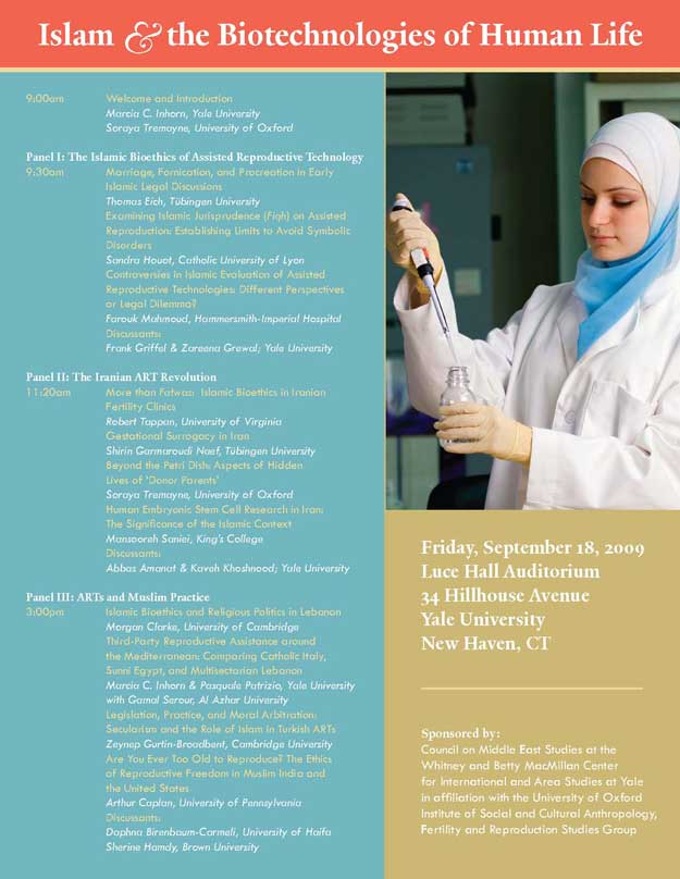 Islam and the Biotechnologies of Human Life - Conference Poster